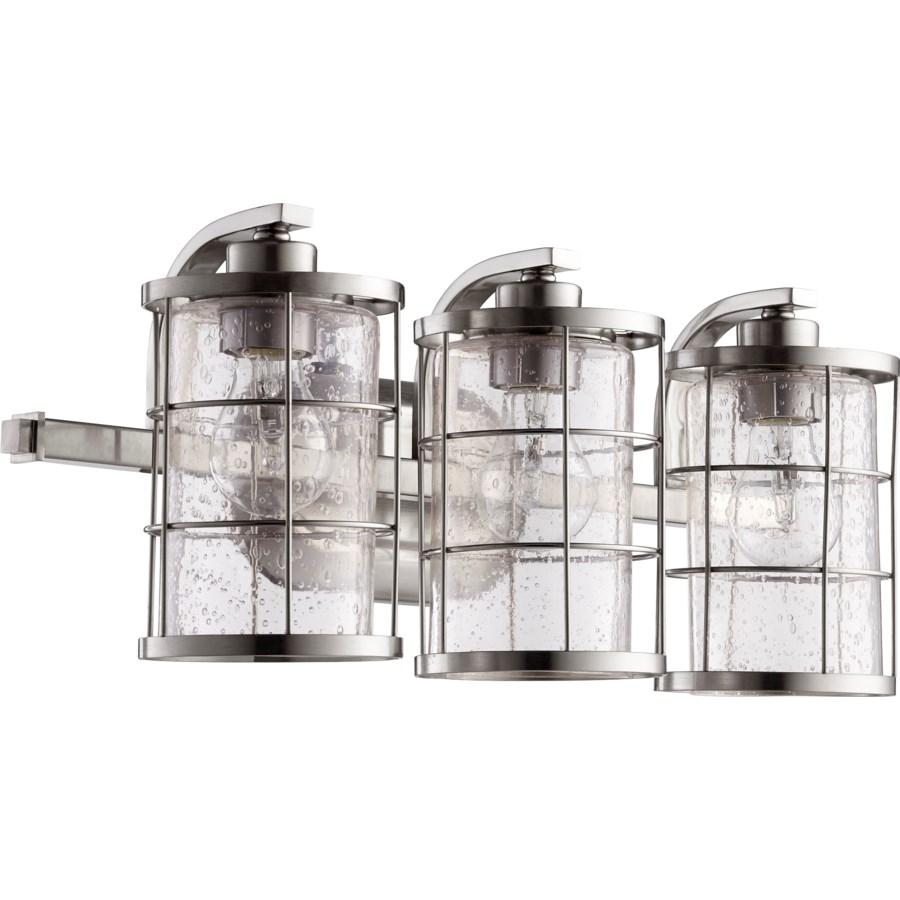 Ellis 3 Light Industrial Satin Nickel Vanity