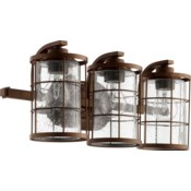 Ellis 3 Light Industrial Oiled Bronze Vanity