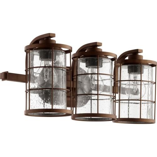 Ellis 3 Light Industrial Oiled Bronze Vanity