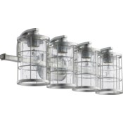 Ellis 4 Light Transitional Tumbled Steel Vanity
