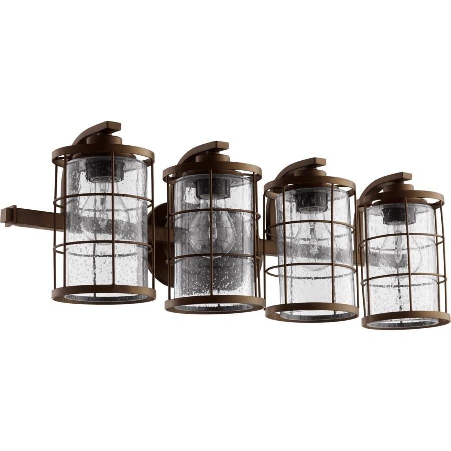 Ellis 4 Light Industrial Oiled Bronze Vanity