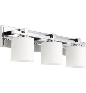 3 Light Transitional Chrome Vanity