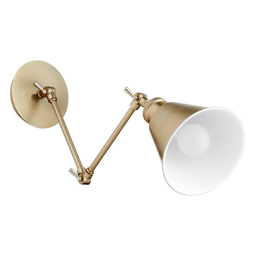1 Light Mid Century Modern Aged Brass  Wall Sconce