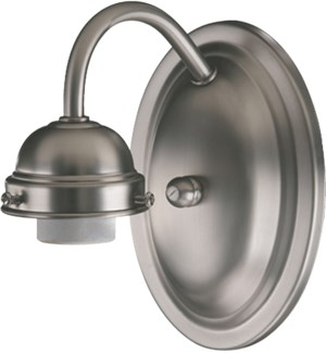 1 Light Traditional Satin Nickel  Wall Sconce