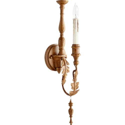Salento 1 Light Traditional French Umber  Wall Sconce