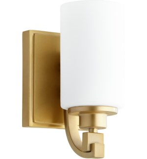 Lancaster 1 Light Transitional Aged Brass Wall Sconce