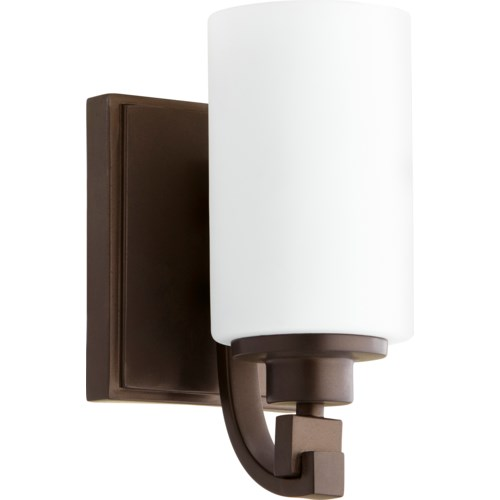 Lancaster 1 Light Transitional Oiled Bronze Wall Sconce