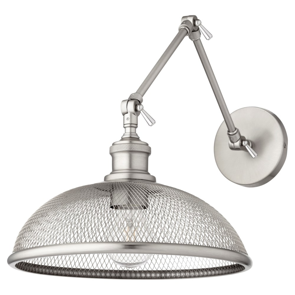 Omni 1 Light Industrial Satin Nickel  Wall Sconce