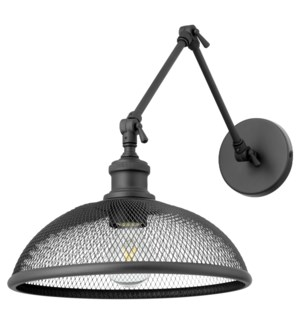 Omni 1 Light Industrial Black Wall Sconce