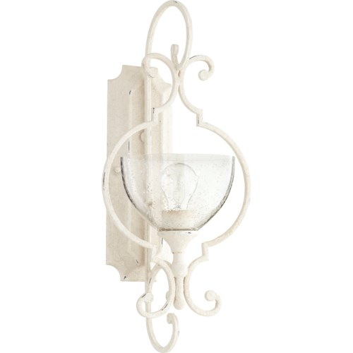 Ansley 1 Light Traditional Persian White Wall Sconce