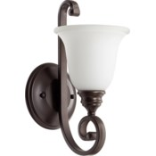 Bryant 1 Light Traditional Oiled Bronze Satin Opal Glass Wall Sconce