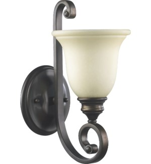 Bryant 1 Light Traditional Oiled Bronze Wall Sconce