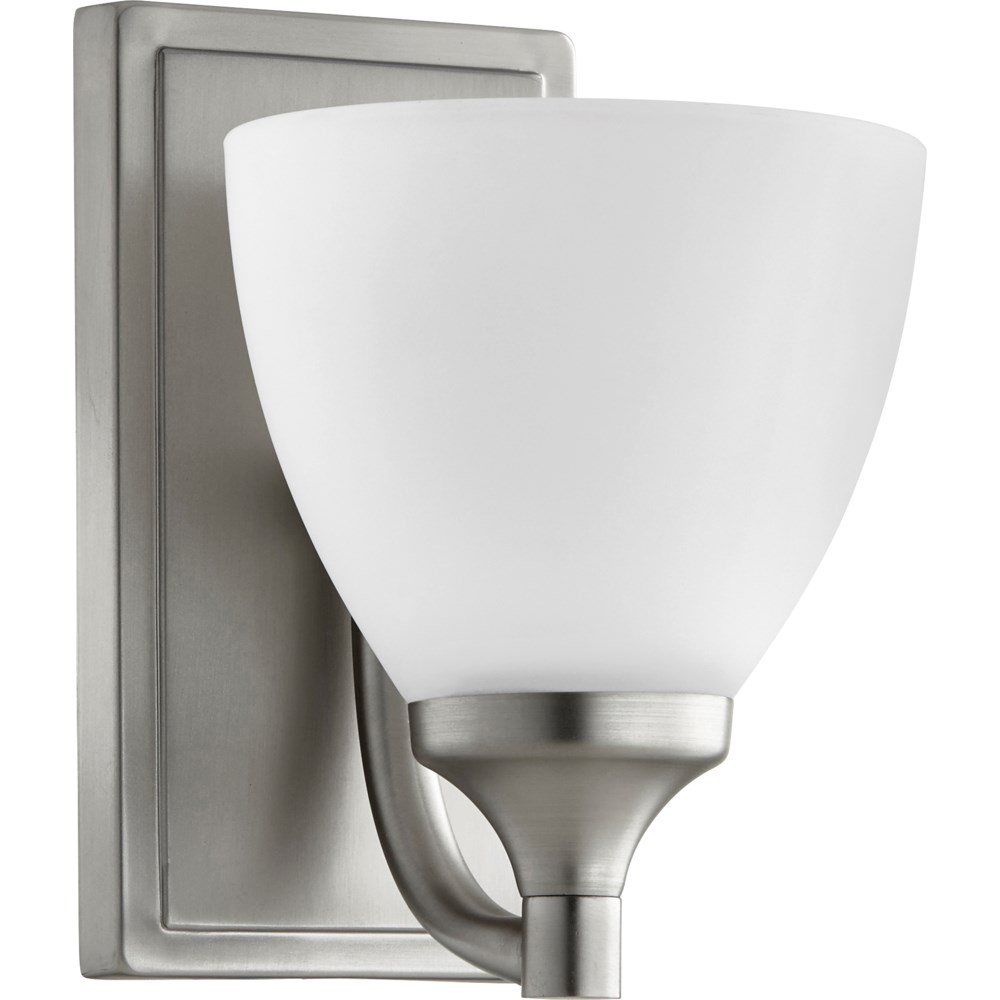 Enclave 1 Light Transitional Satin Nickel Wall Sconce