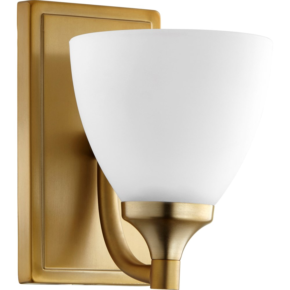 Enclave 1 Light Transitional Aged Brass Wall Sconce