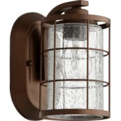 Ellis 1 Light Industrial  Oiled Bronze Wall Sconce