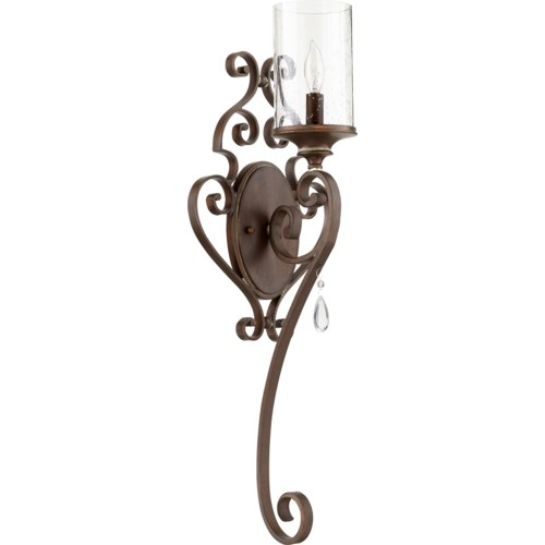 San Miguel 1 Light Traditional Vintage Copper Wall Sconce