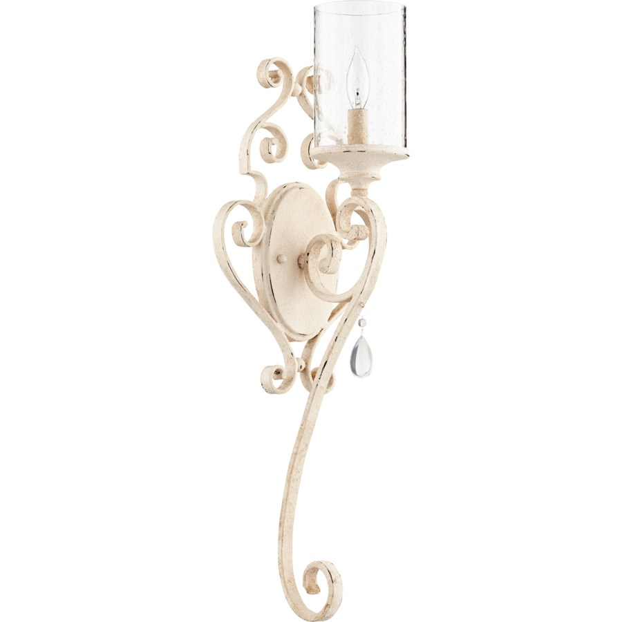 San Miguel 1 Light Traditional Persian White Wall Sconce