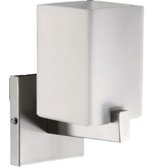 Modus 1 Light Modern and Contemporary Satin Nickel  Wall Sconce