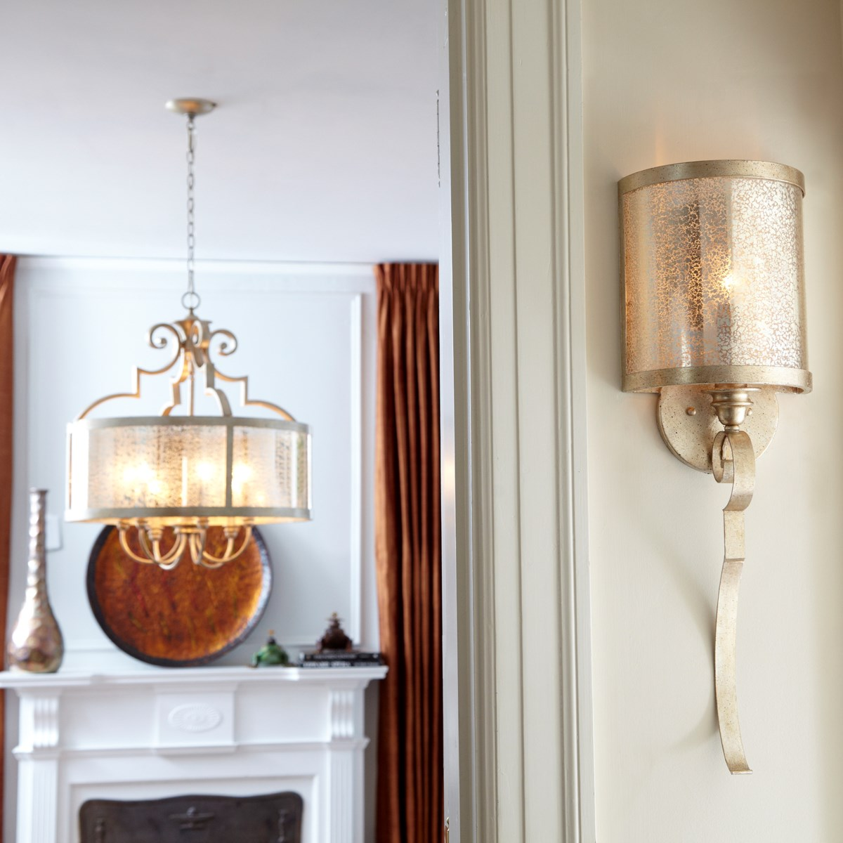 Champlain 1 Light Traditional Aged Silver Leaf Wall Sconce