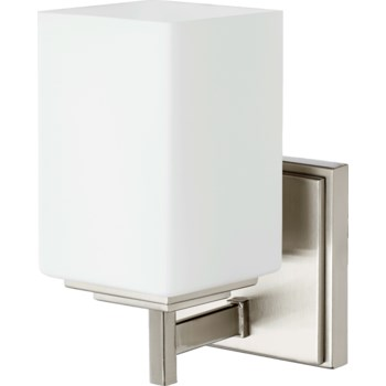 Delta 1 Light Modern and Contemporary Satin Nickel Wall Sconce