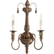 Salento 2 Light Traditional Vintage Copper Wall Sconce