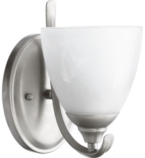 Powell 1 Light Transitional Classic Nickel Wall Sconce