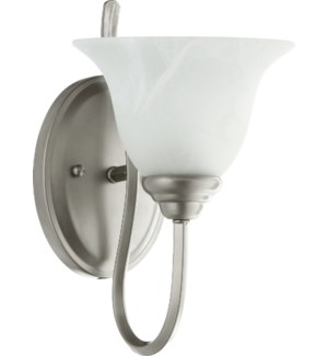 Spencer 1 Light Transitional Classic Nickel Wall Sconce
