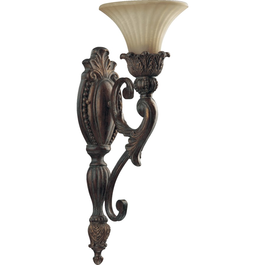 MADELEINE 1 Light Traditional Corsican Gold  Wall Sconce