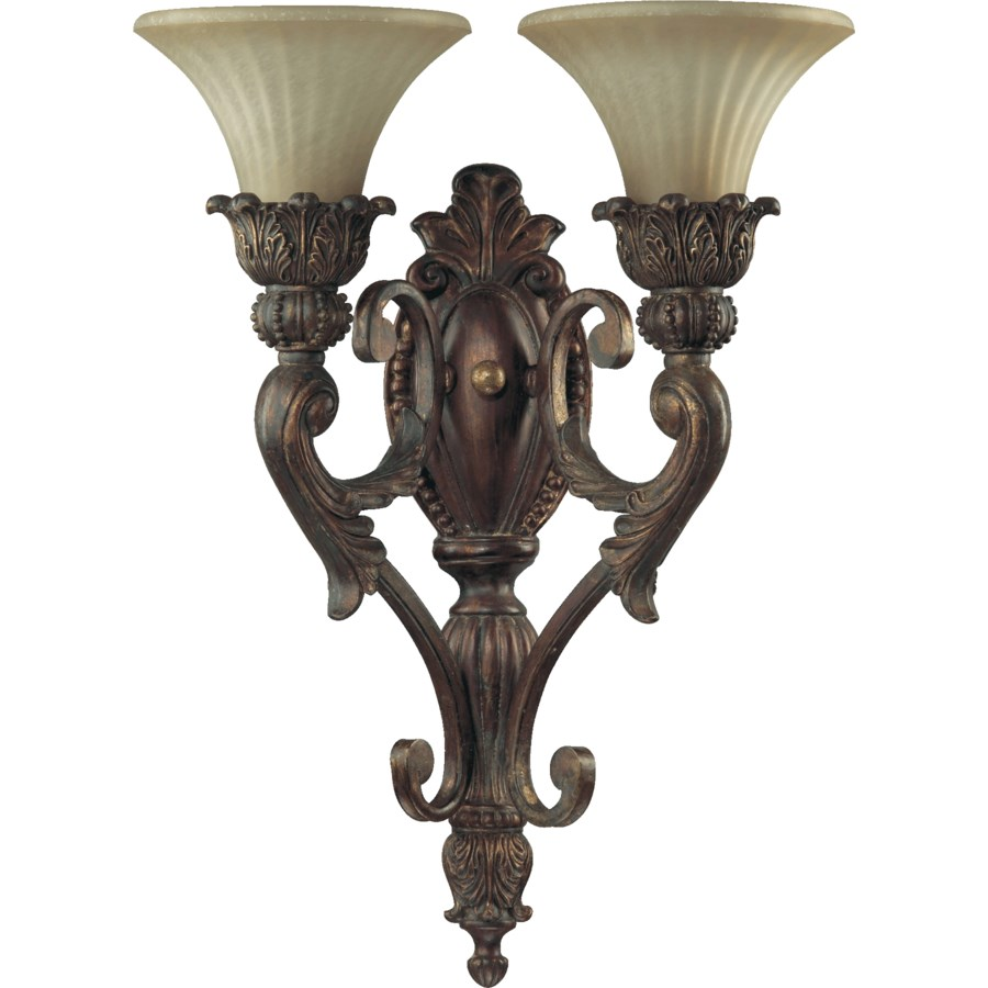 Madeleine 2 Light Traditional Corsican Gold Wall Sconce