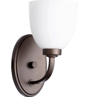 Reyes 1 Light Transitional Oiled Bronze Wall Sconce