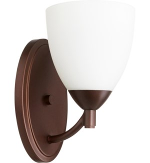 Barkley 1 Light Traditional Oiled Bronze Wall Sconce
