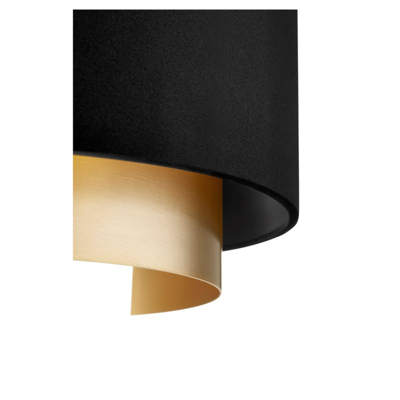 Half Drum Two-Toned Noir/Aged Brass Wall Sconce