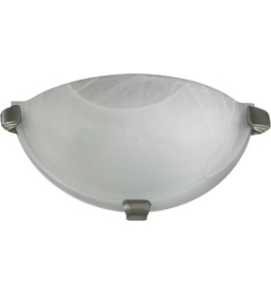 1 Light Transitional Satin Nickel Wall Sconce
