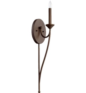 Brooks 1 Light Transitional Oiled Bronze Wall Sconce
