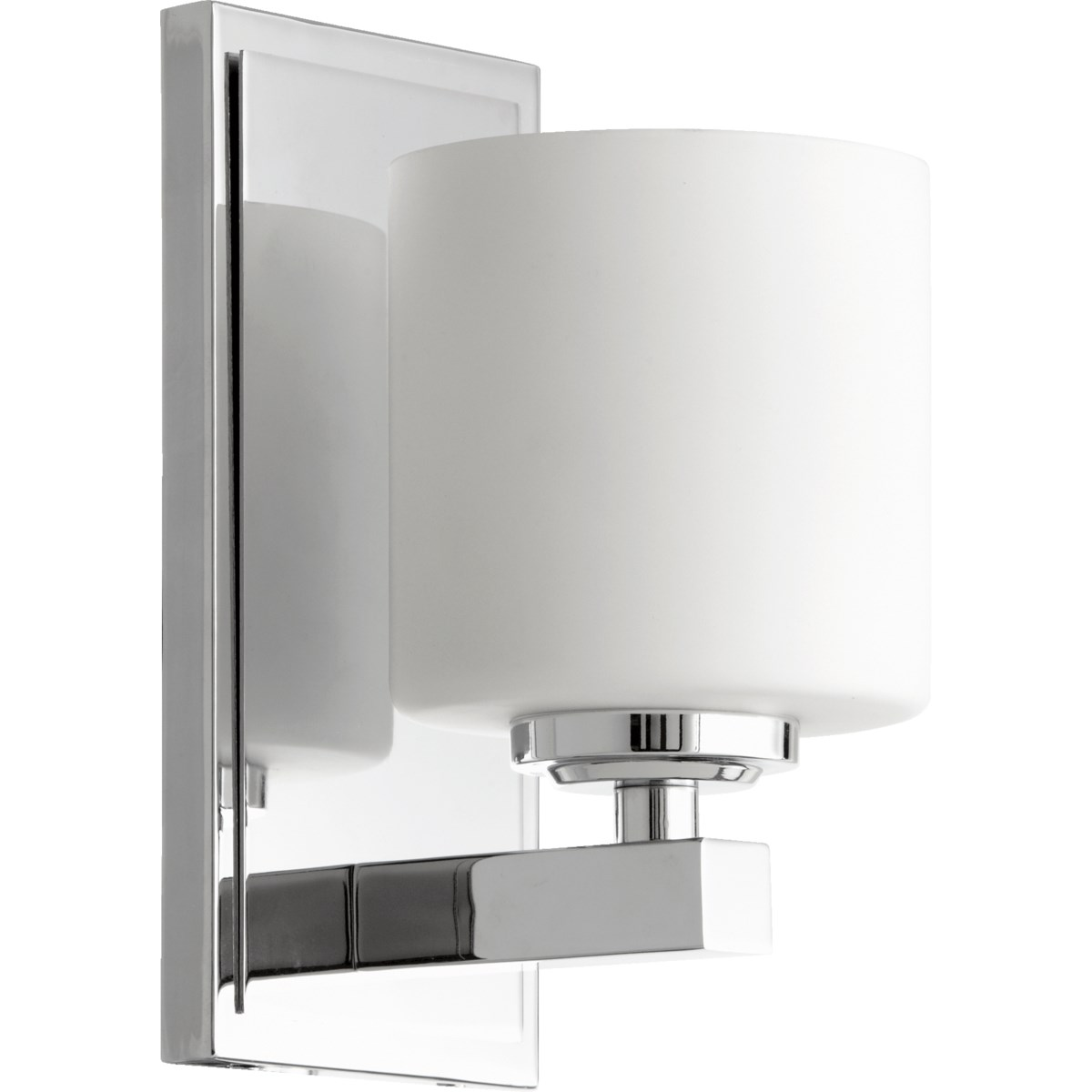 1 Light Transitional Chrome Wall Sconce