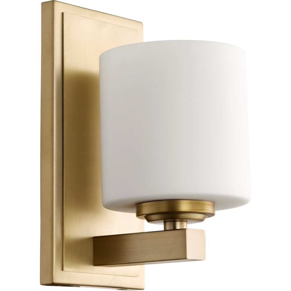 1 Light Transitional Aged Brass  Wall Sconce