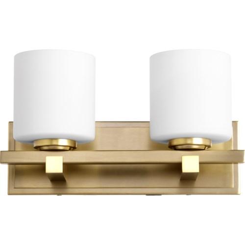 2 Light Transitional Aged Brass Vanity