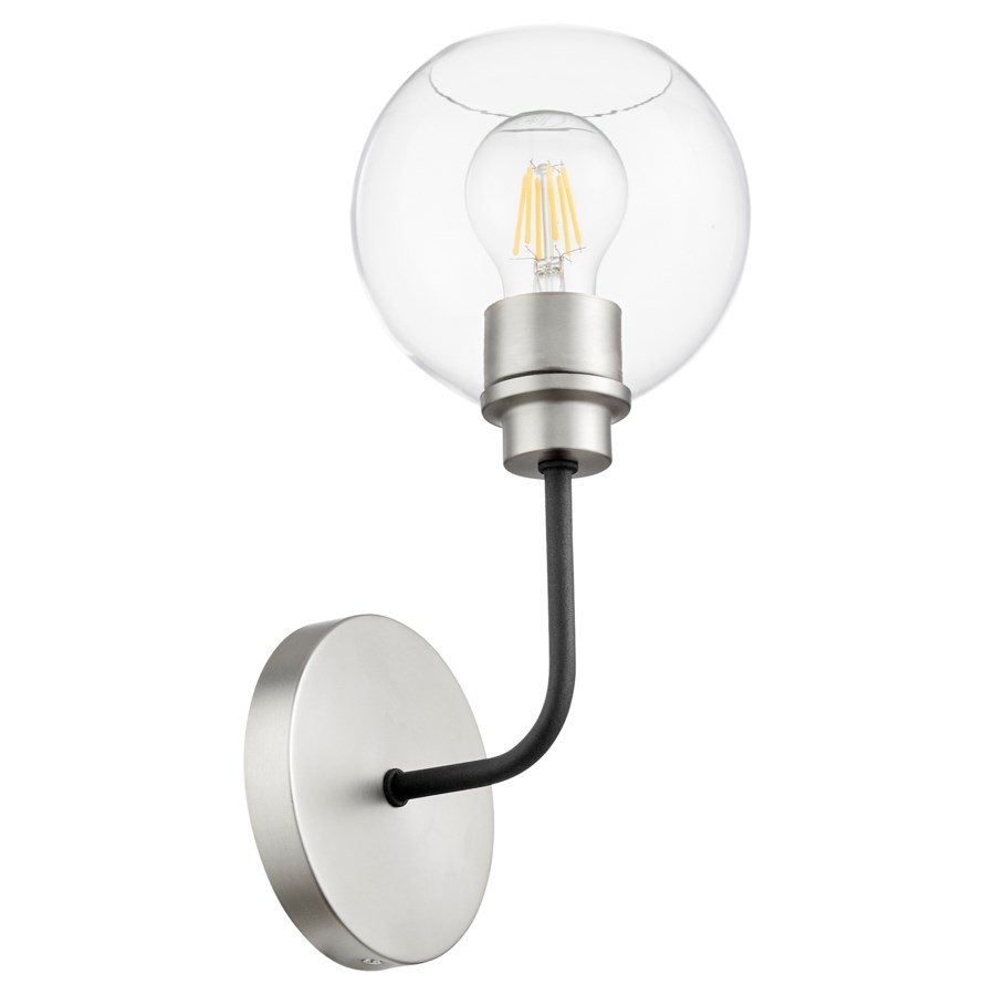 Clarion 1-Light Noir/Satin Nickel Wall Mount