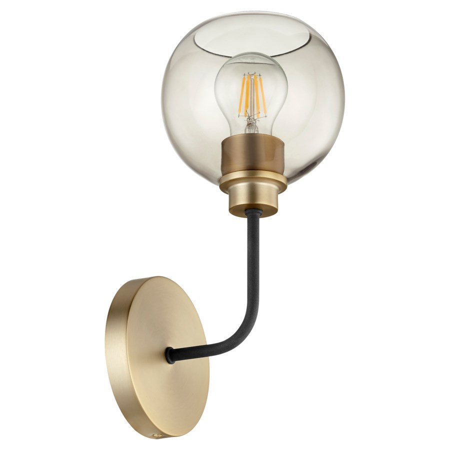 Clarion 1-Light Noir/Aged Brass Wall Mount