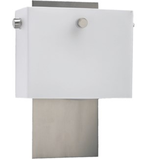 2 Light Modern and Contemporary Satin Nickel Wall Sconce