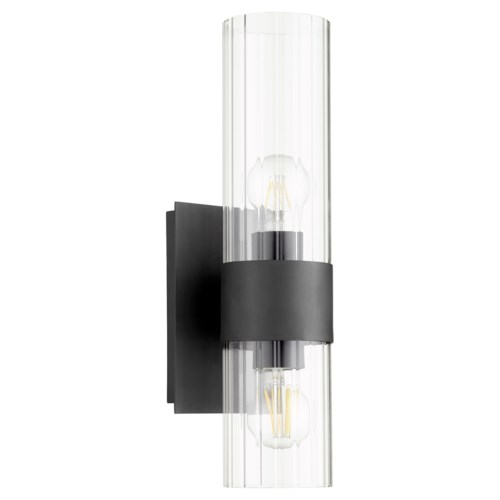2 Light Soft Contemporary Black Wall Sconce