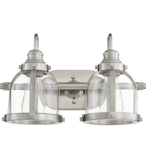 2 Light Transitional Satin Nickel Vanity