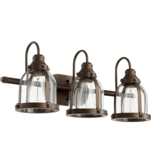 3 Light Transitional Oiled Bronze Vanity