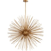 ELECTRA Gold Leaf  Contemporary Pendant
