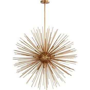 ELECTRA Gold Leaf  Contemporary Pendant