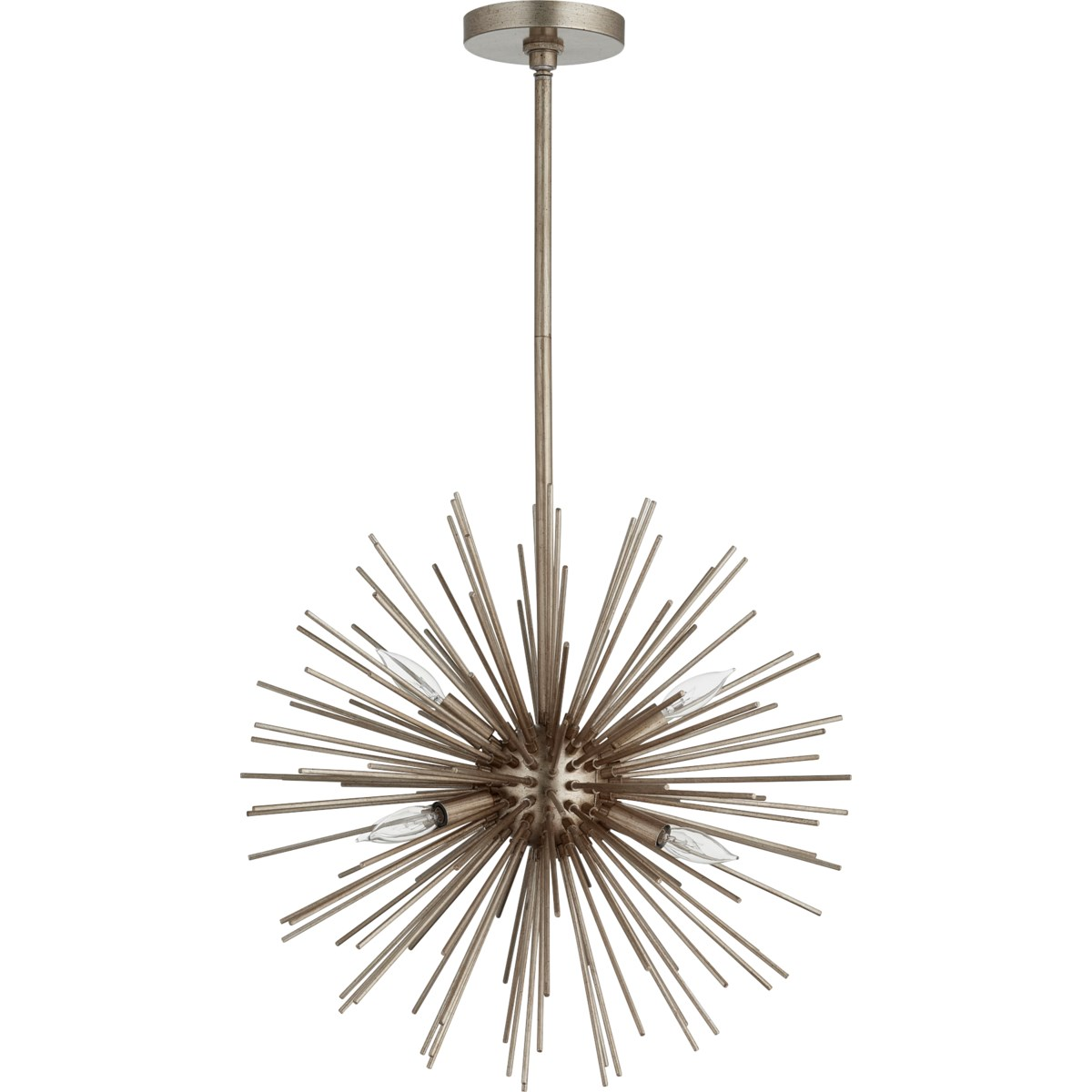 ELECTRA Aged Silver Leaf  Modern and Contemporary Pendant
