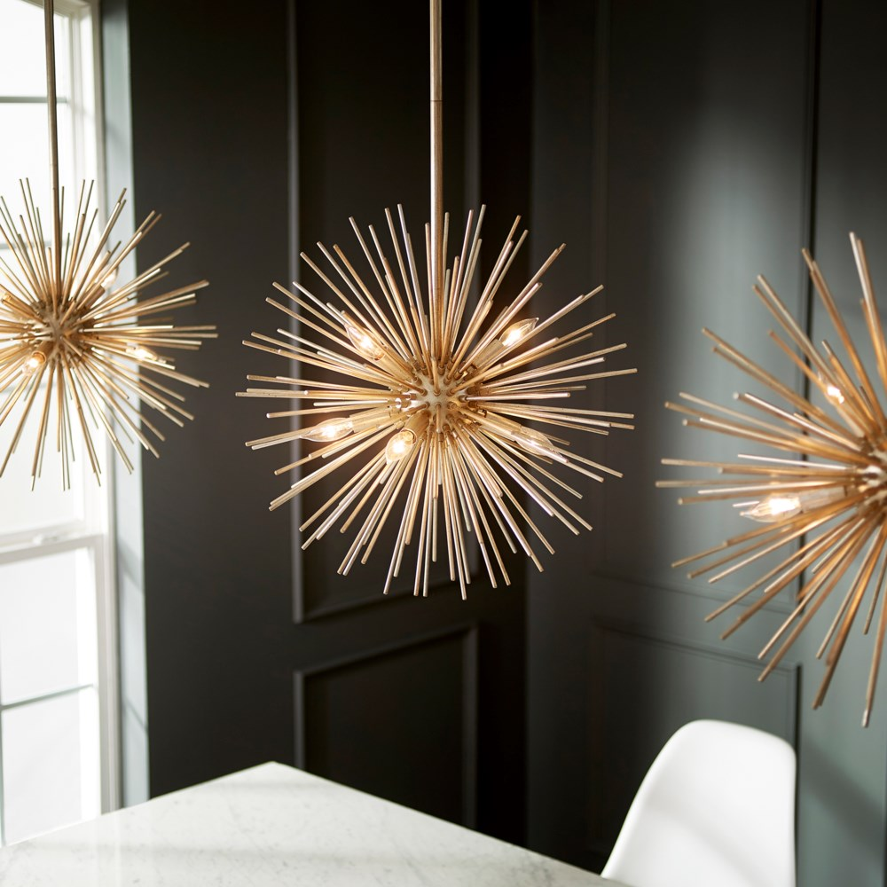 ELECTRA Gold Leaf Modern and Contemporary Pendant