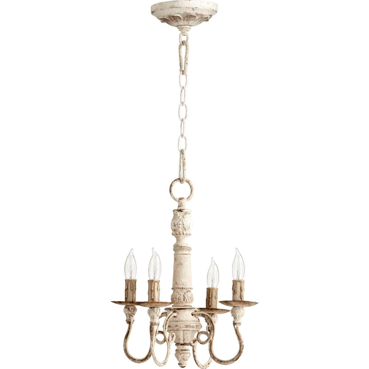 Salento 4 Light Persian White Traditional Chandelier