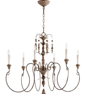 Salento 6 Light Vintage Copper Traditional Chandelier
