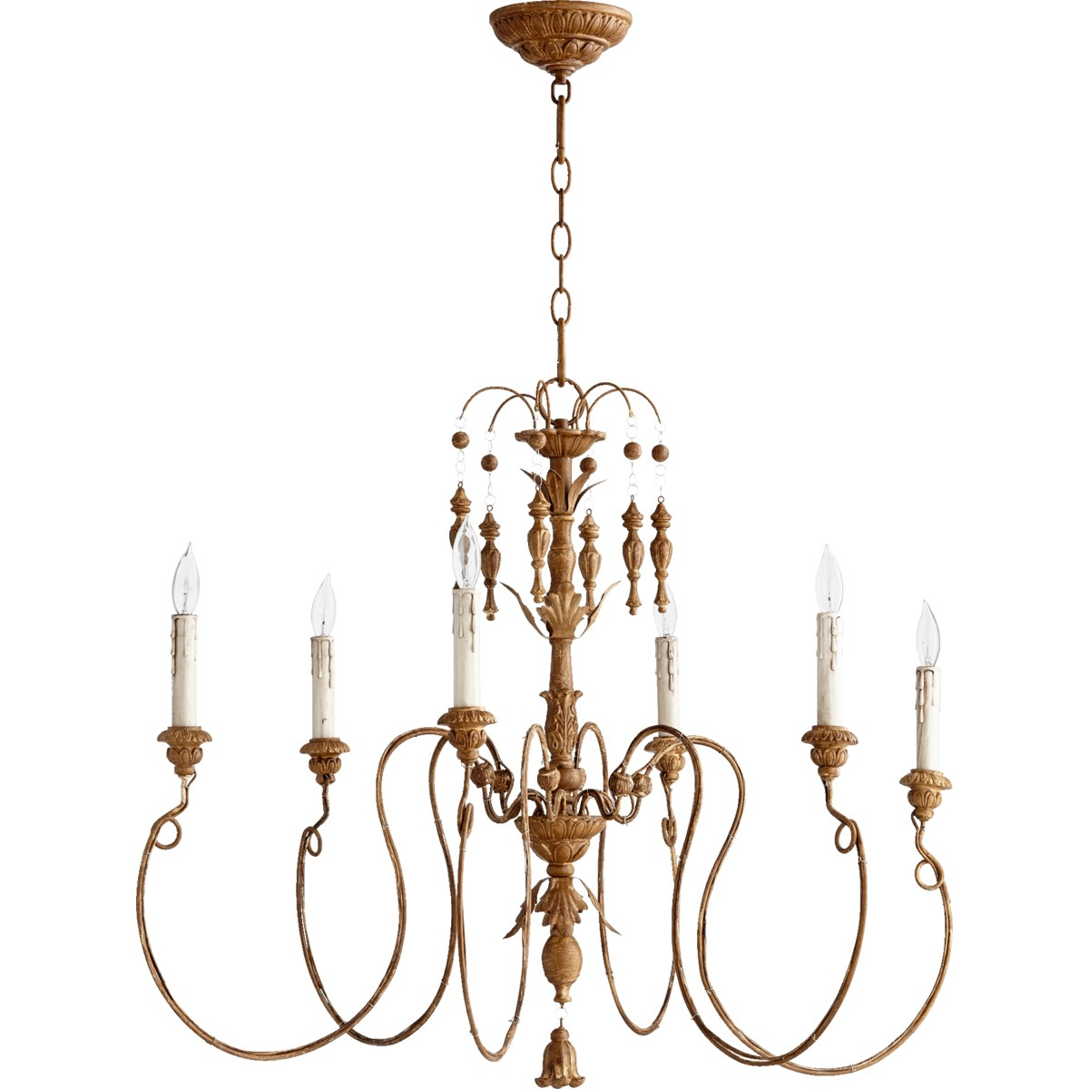 Salento 6 Light French Umber Traditional Chandelier